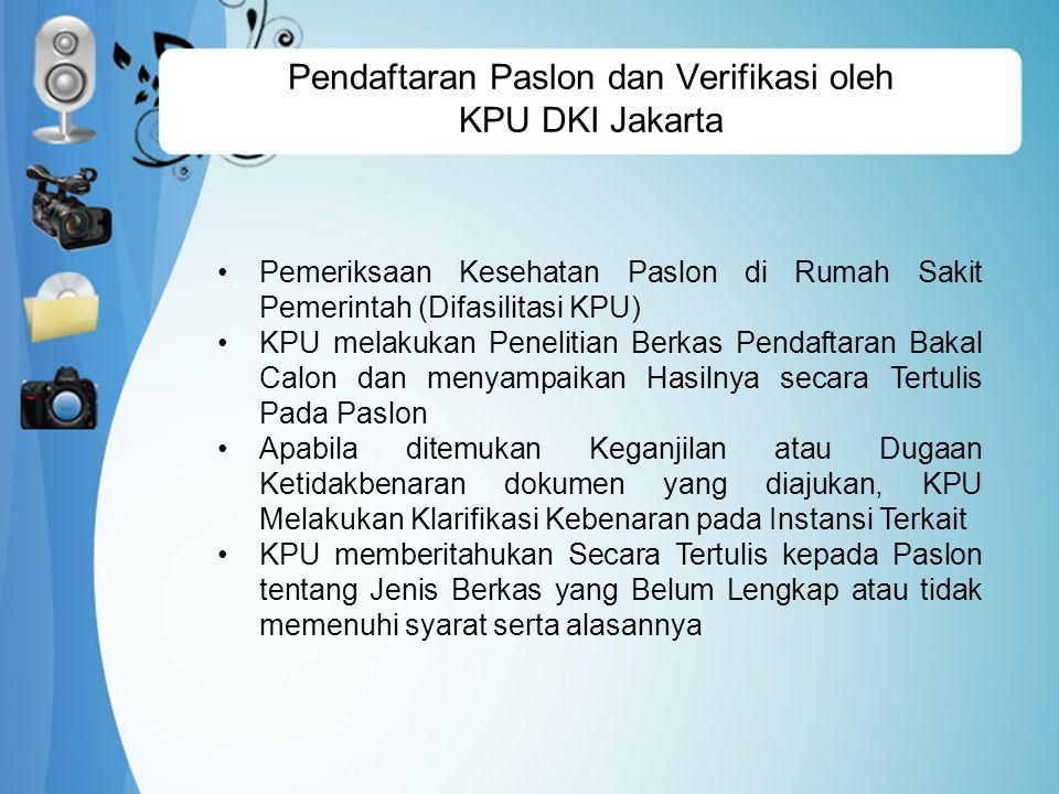 Pendaftaran Paslon dan Verifikasi oleh KPU DKI Jakarta