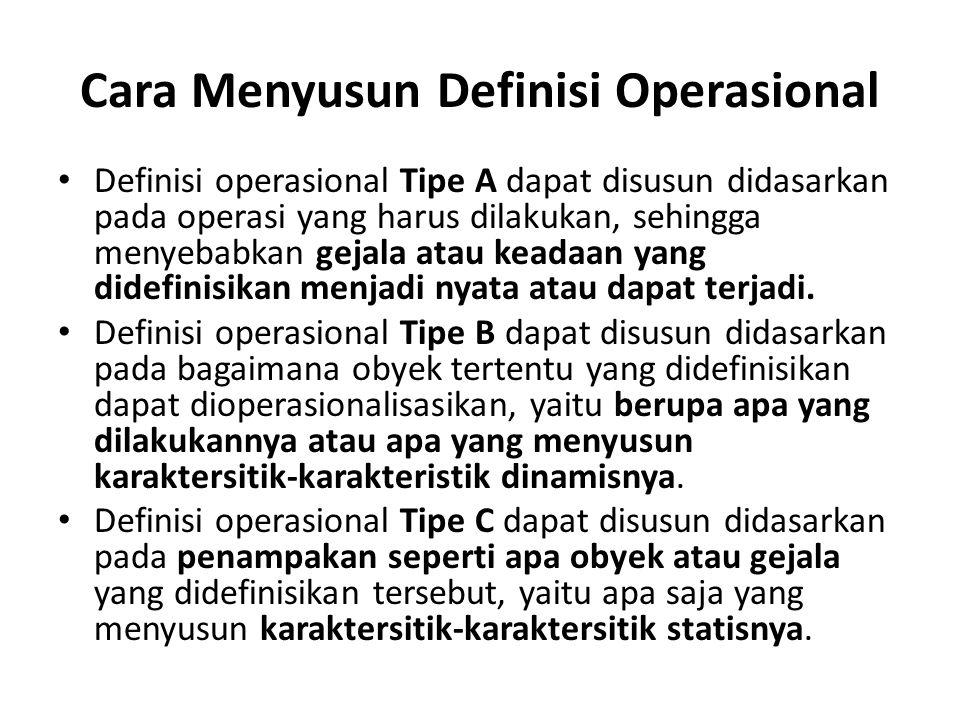 Cara Menyusun Definisi Operasional
