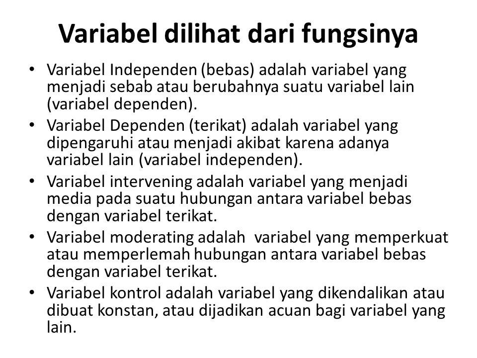 Variabel dilihat dari fungsinya