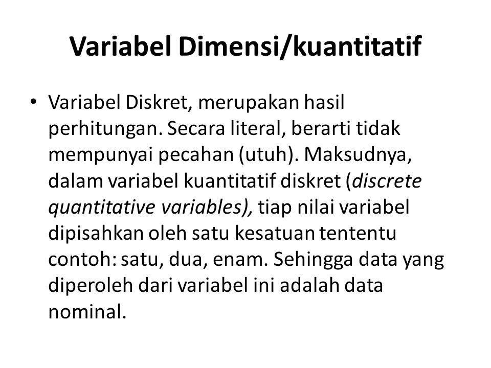 Variabel Dimensi/kuantitatif