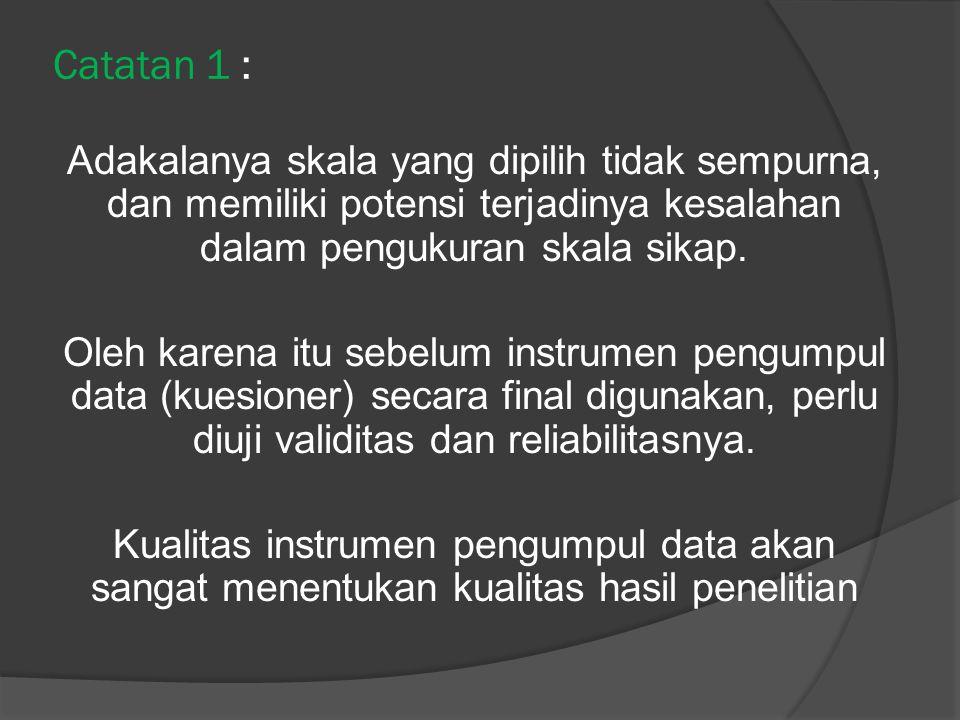 Catatan 1 :
