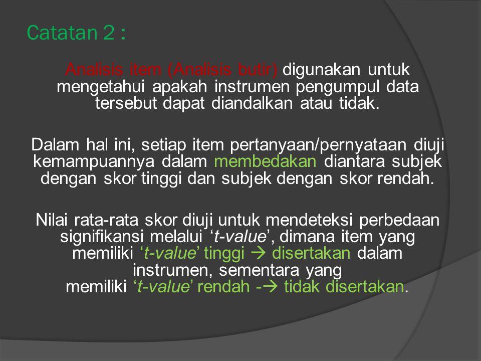 Catatan 2 :