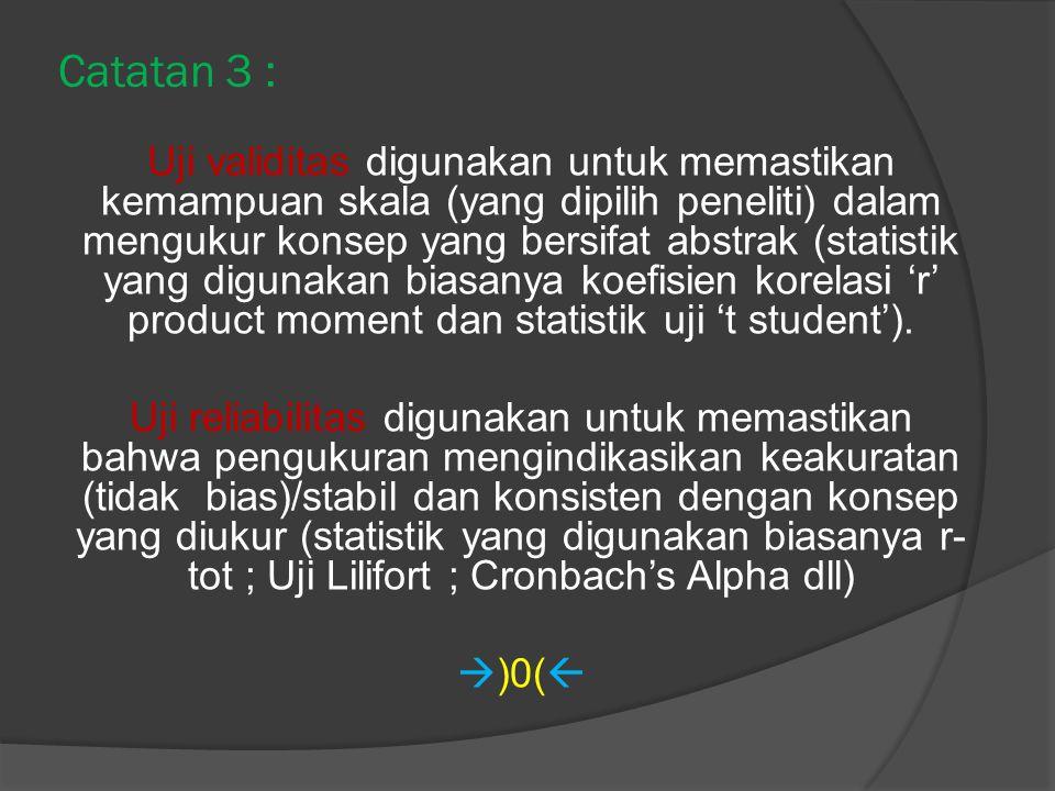Catatan 3 :