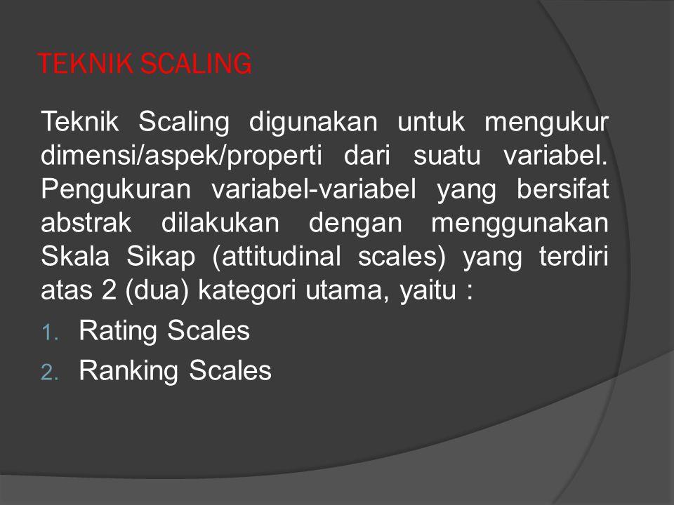 TEKNIK SCALING