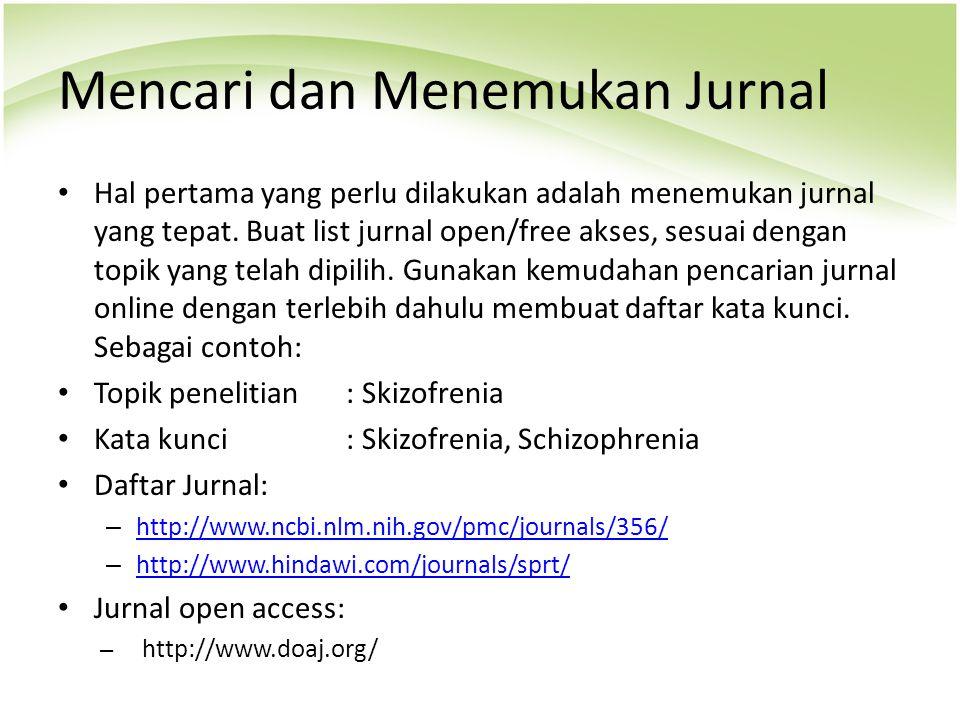 Mencari dan Menemukan Jurnal