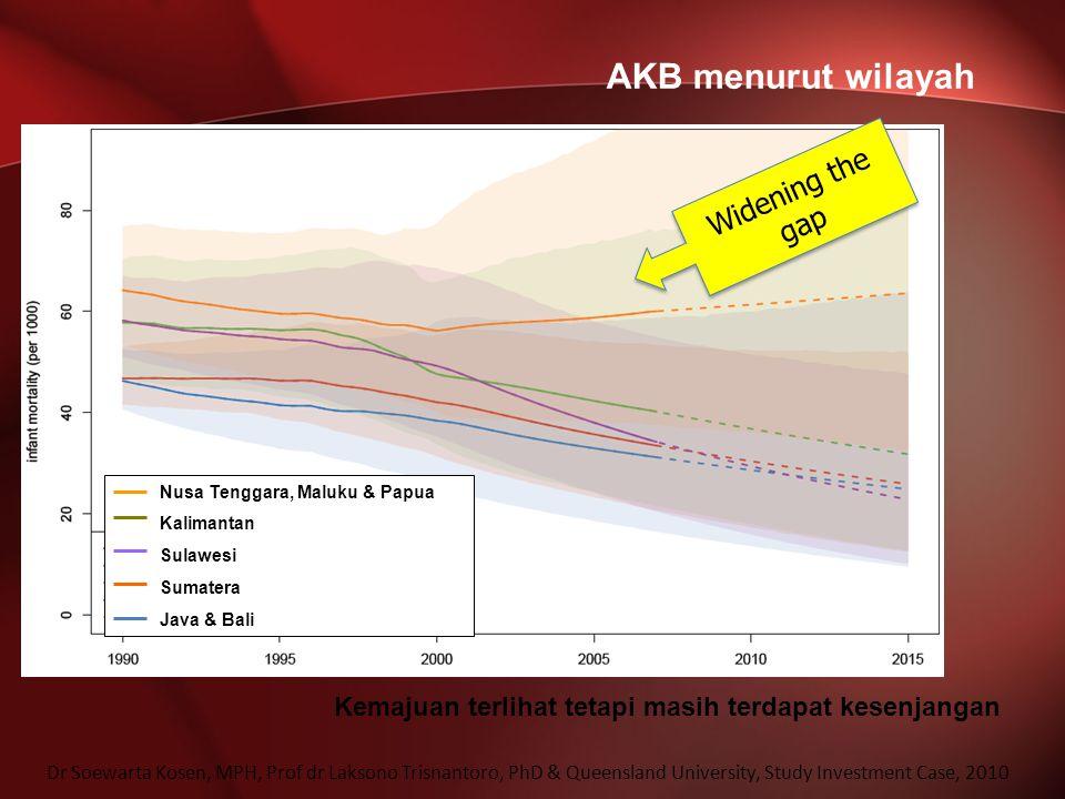 AKB menurut wilayah Widening the gap