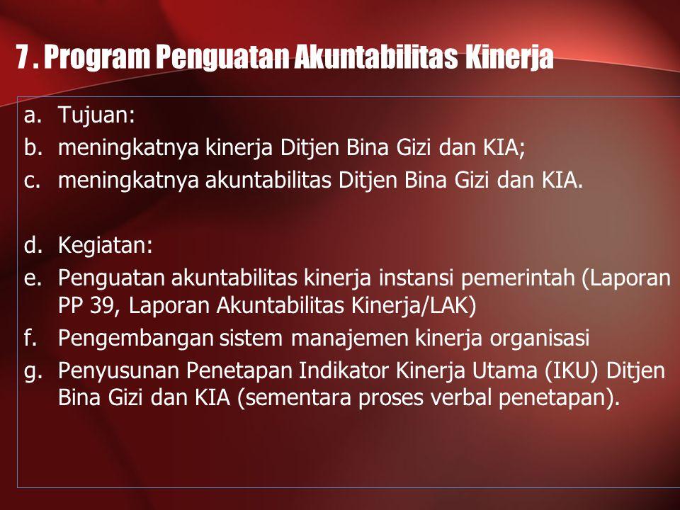 7 . Program Penguatan Akuntabilitas Kinerja