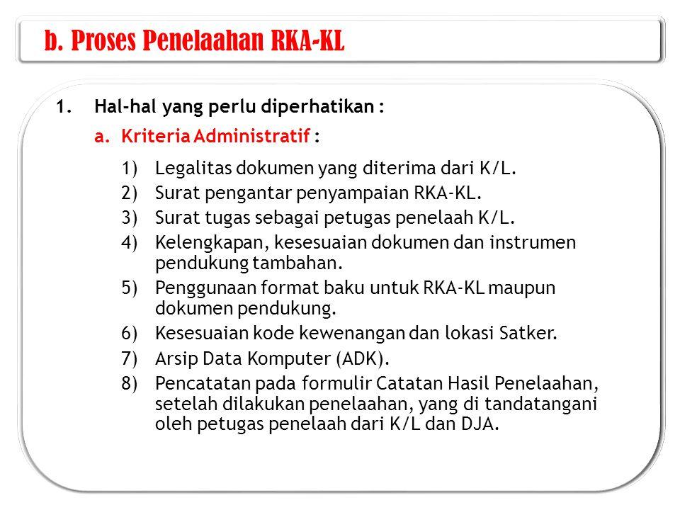 b. Proses Penelaahan RKA-KL
