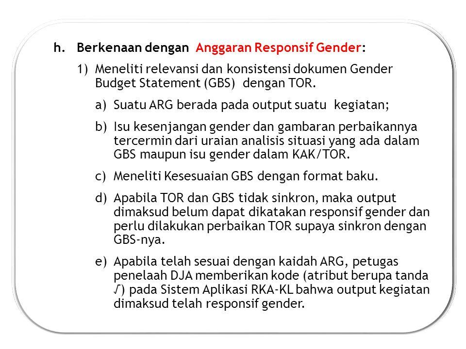 Berkenaan dengan Anggaran Responsif Gender: