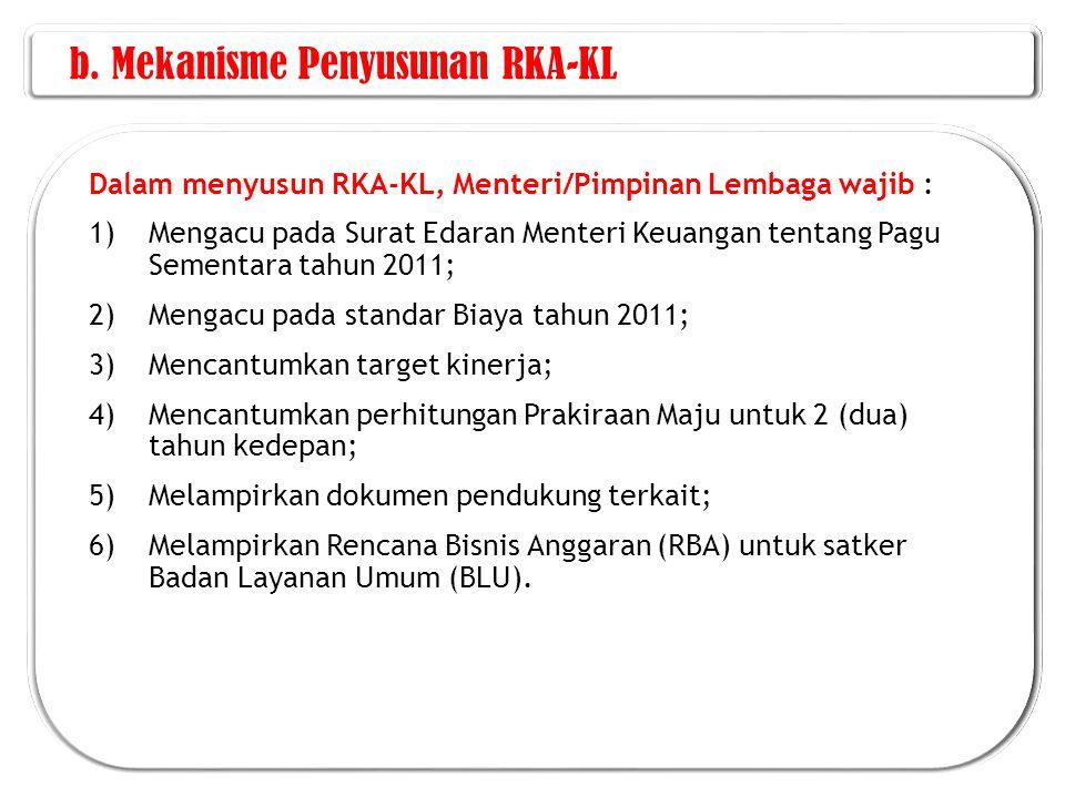 b. Mekanisme Penyusunan RKA-KL