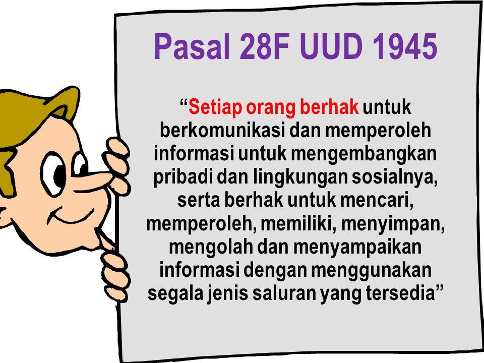 Pasal 28F UUD 1945