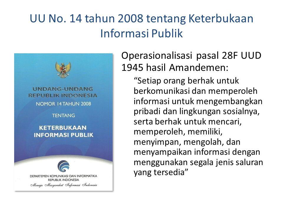 UU No. 14 tahun 2008 tentang Keterbukaan Informasi Publik