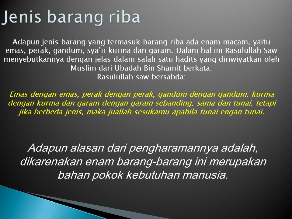 Rasulullah saw bersabda: