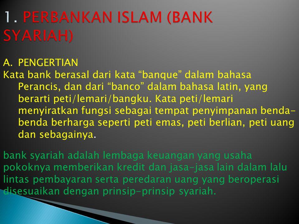 1. PERBANKAN ISLAM (BANK SYARIAH)