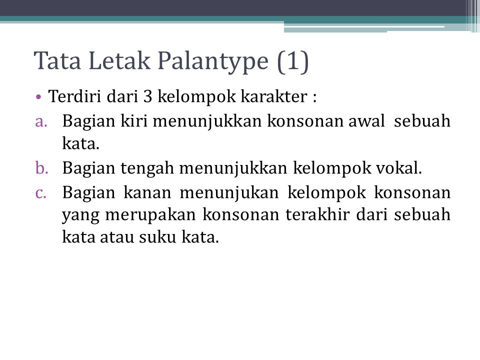 Tata Letak Palantype (1)
