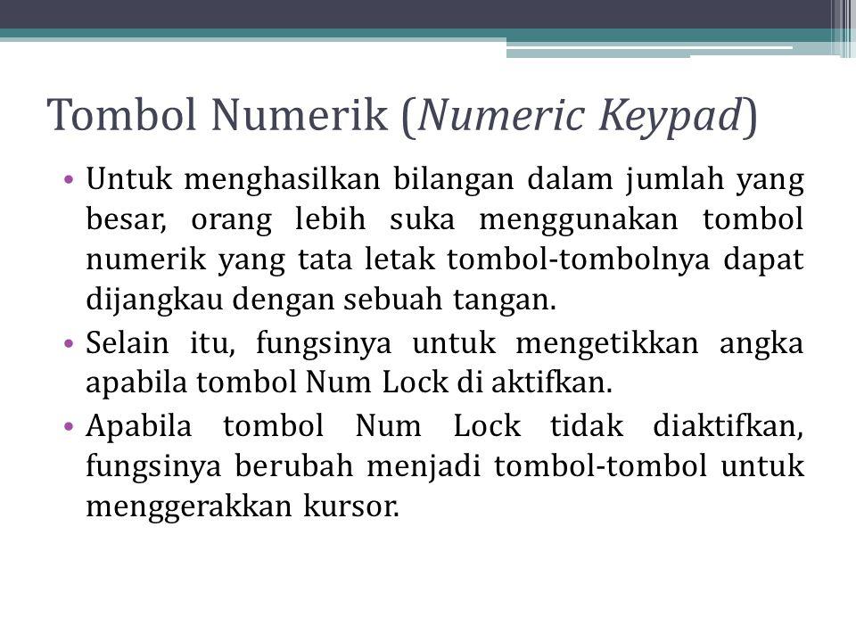 Tombol Numerik (Numeric Keypad)