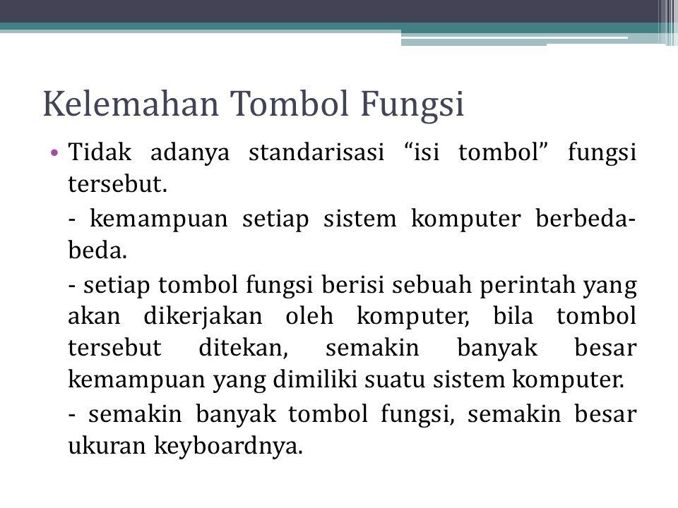 Kelemahan Tombol Fungsi