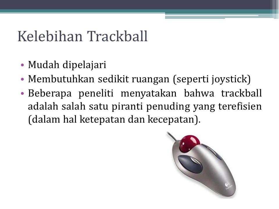 Kelebihan Trackball Mudah dipelajari