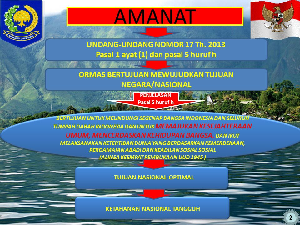 AMANAT UNDANG-UNDANG NOMOR 17 Th. 2013