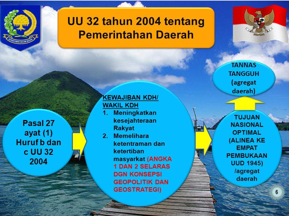 UU 32 tahun 2004 tentang Pemerintahan Daerah
