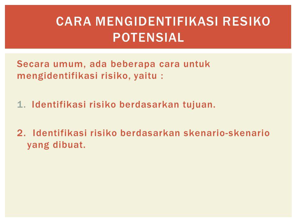 Cara mengidentifikasi resiko potensial