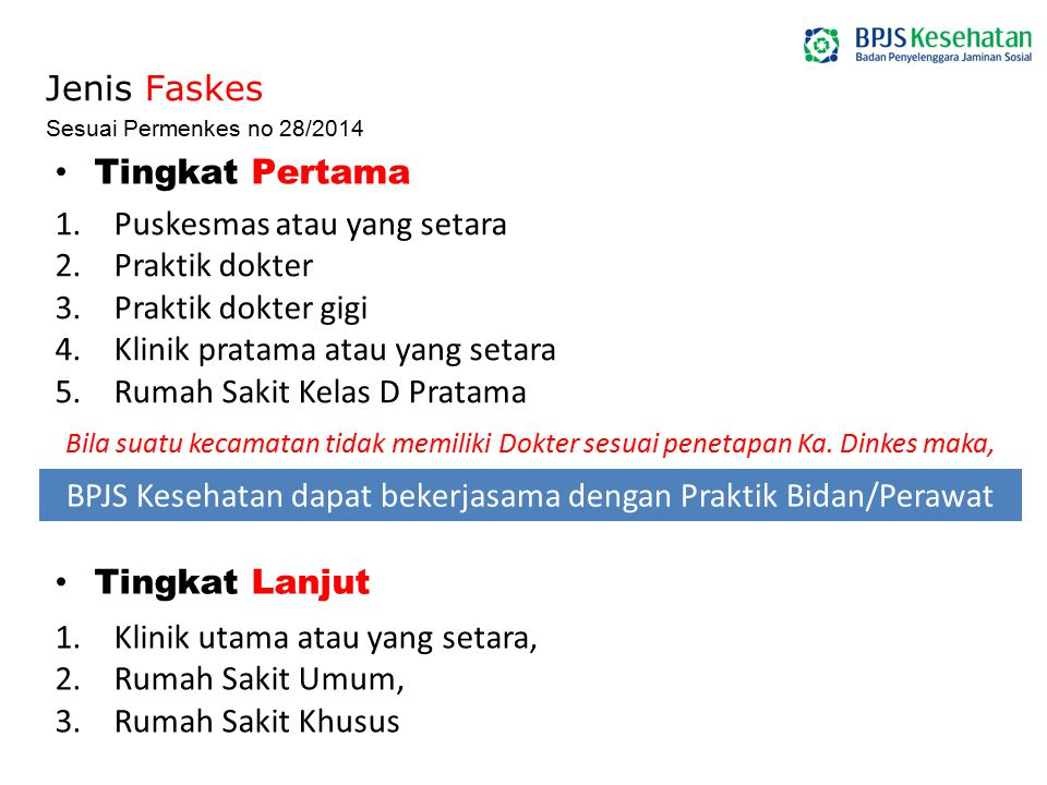 BPJS Kesehatan dapat bekerjasama dengan Praktik Bidan/Perawat