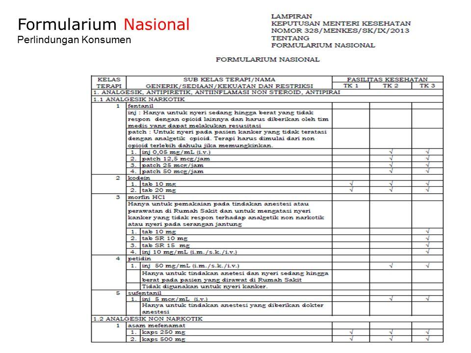 Formularium Nasional Perlindungan Konsumen