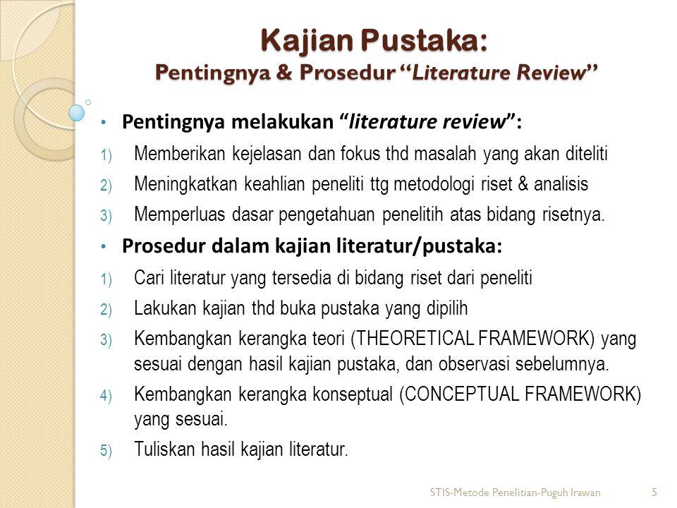 Kajian Pustaka: Pentingnya & Prosedur Literature Review