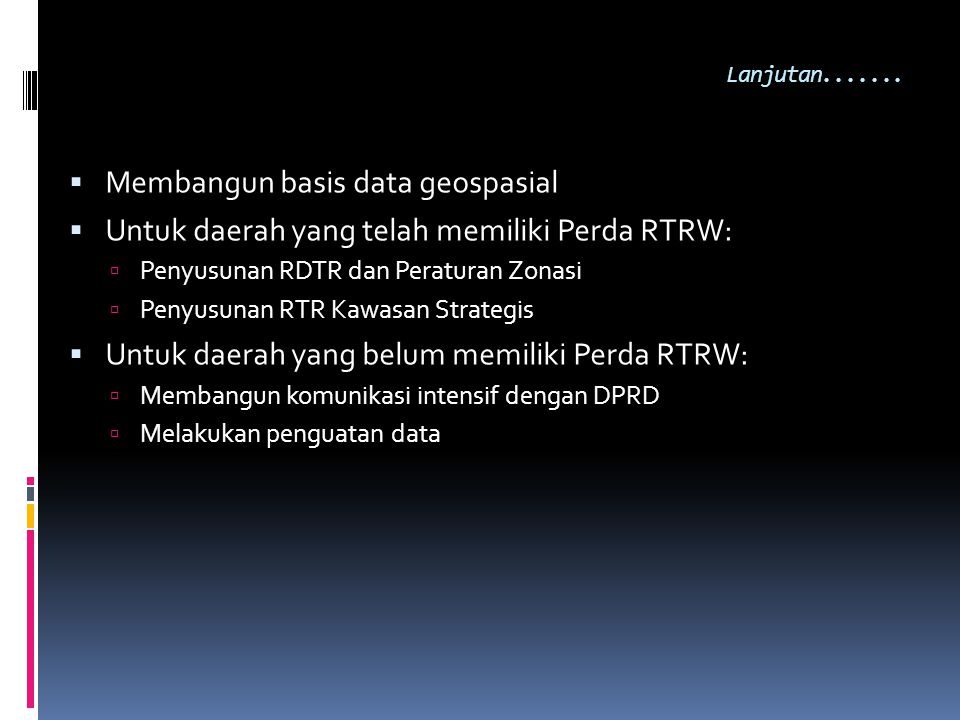 Membangun basis data geospasial