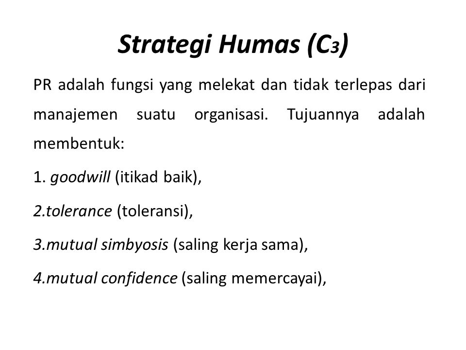 Strategi Humas (C3)