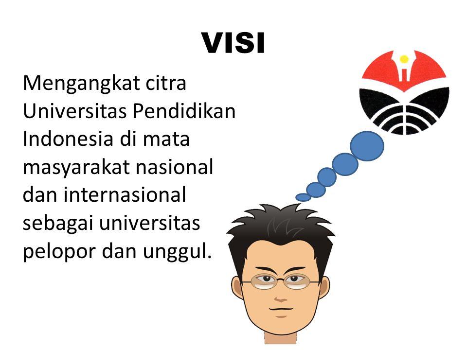 VISI Mengangkat citra Universitas Pendidikan Indonesia di mata masyarakat nasional dan internasional sebagai universitas pelopor dan unggul.