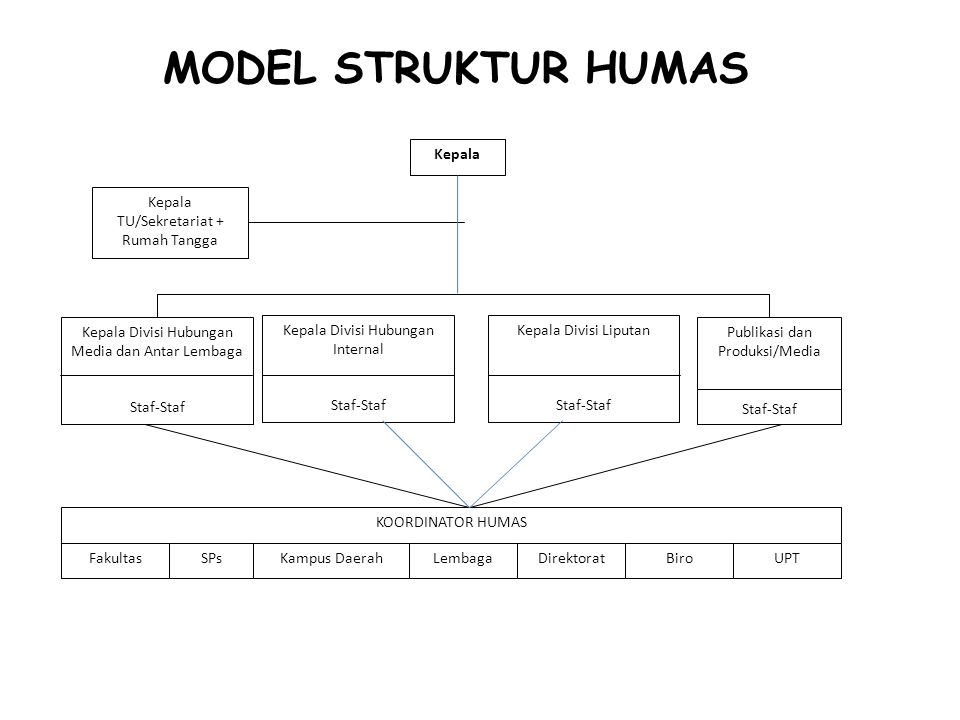 MODEL STRUKTUR HUMAS Kepala