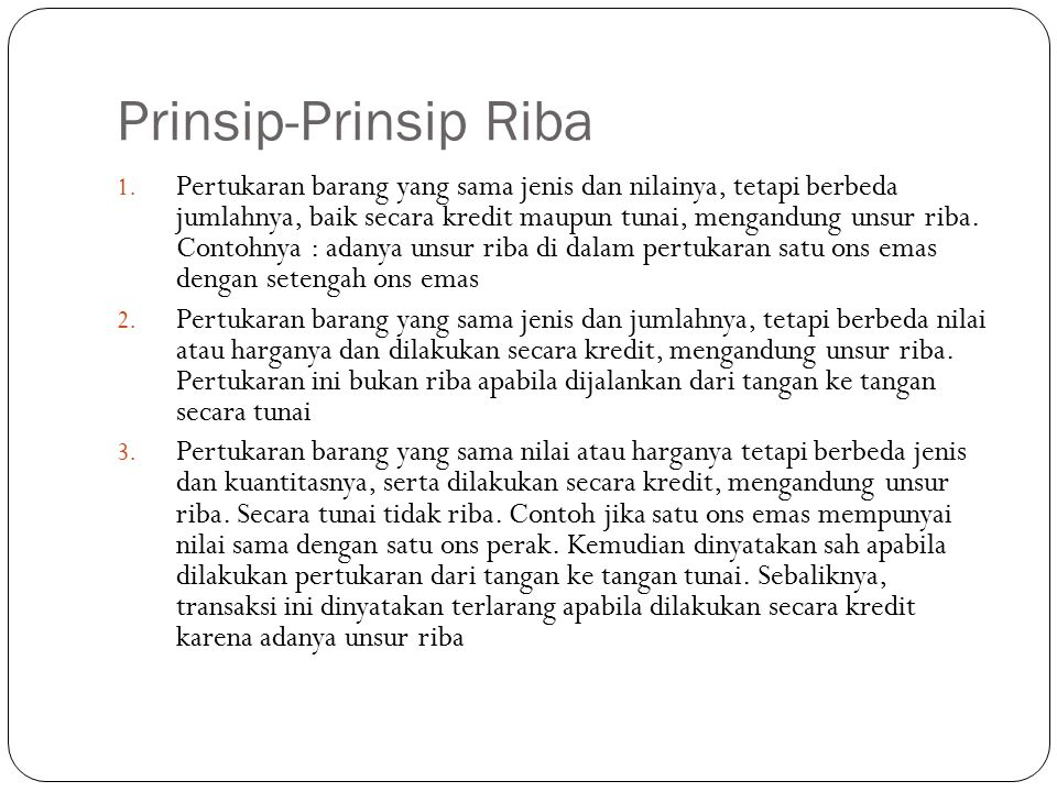 Prinsip-Prinsip Riba