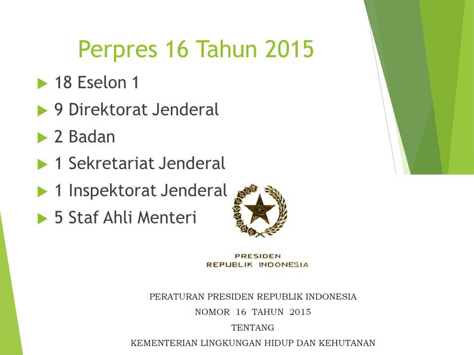 Perpres 16 Tahun 2015 18 Eselon 1 9 Direktorat Jenderal 2 Badan
