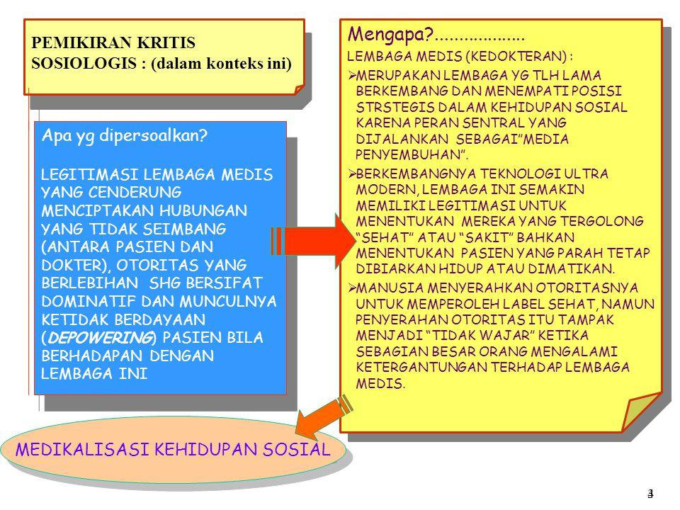 PEMIKIRAN KRITIS SOSIOLOGIS : (dalam konteks ini)