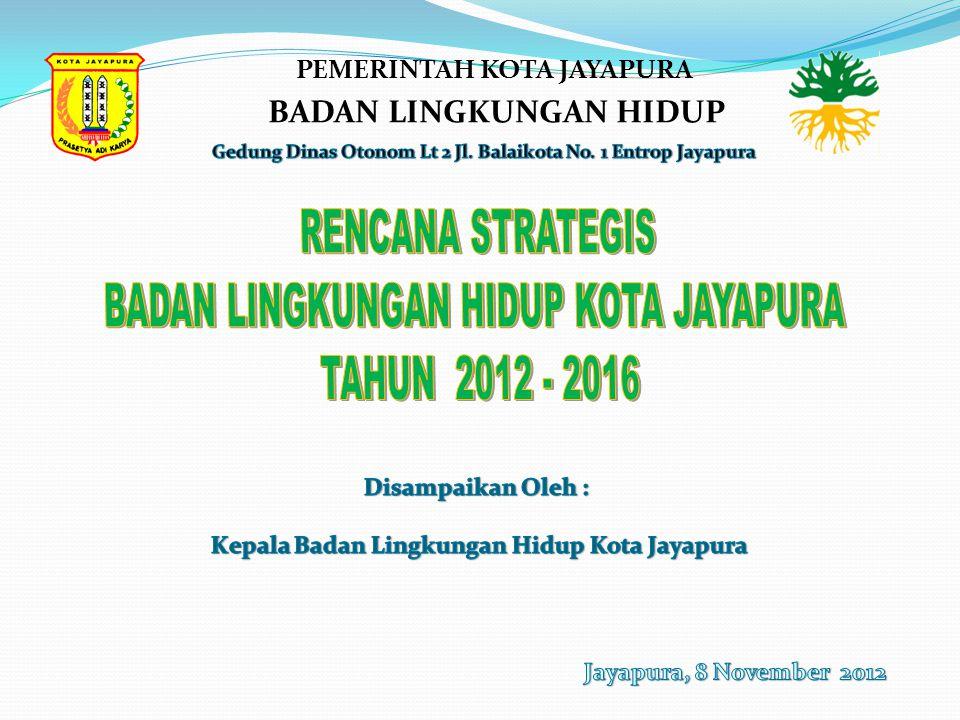 BADAN LINGKUNGAN HIDUP KOTA JAYAPURA TAHUN 2012 - 2016
