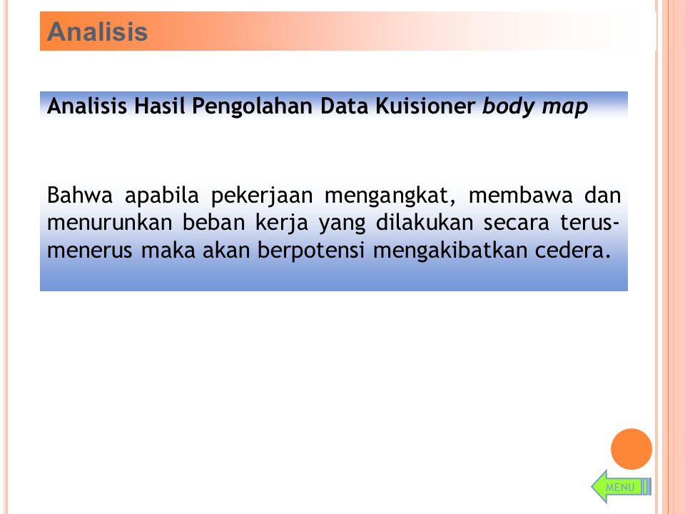 Analisis Hasil Pengolahan Data Kuisioner body map