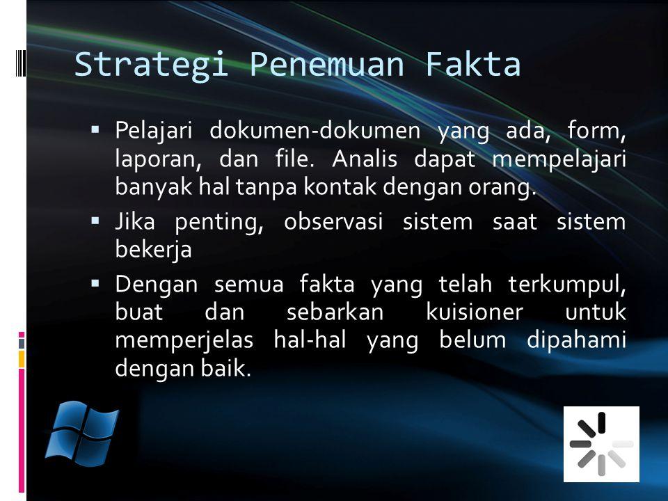 Strategi Penemuan Fakta