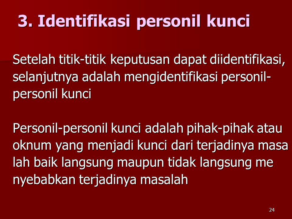 3. Identifikasi personil kunci