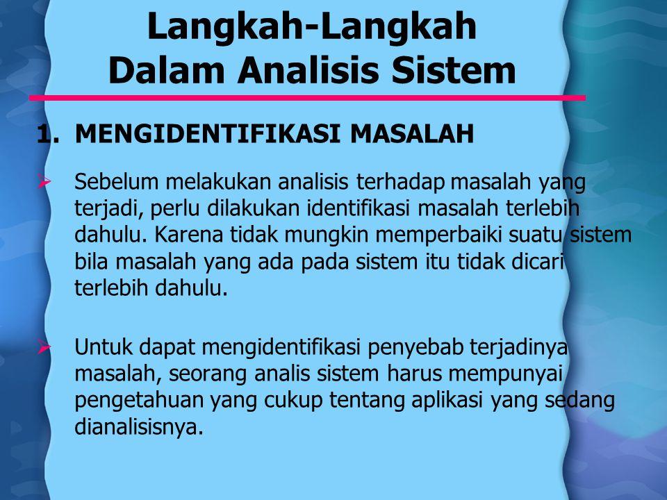 Langkah-Langkah Dalam Analisis Sistem