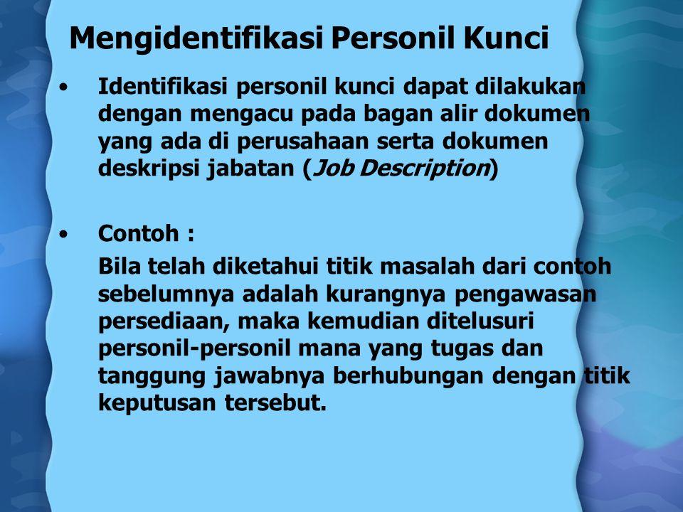 Mengidentifikasi Personil Kunci
