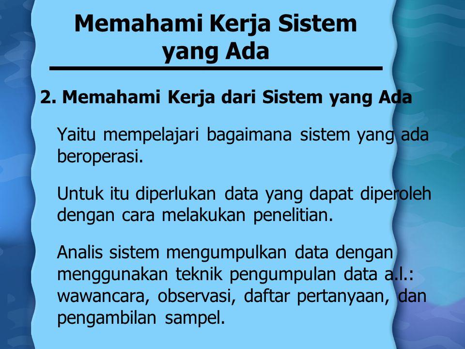 Memahami Kerja Sistem yang Ada