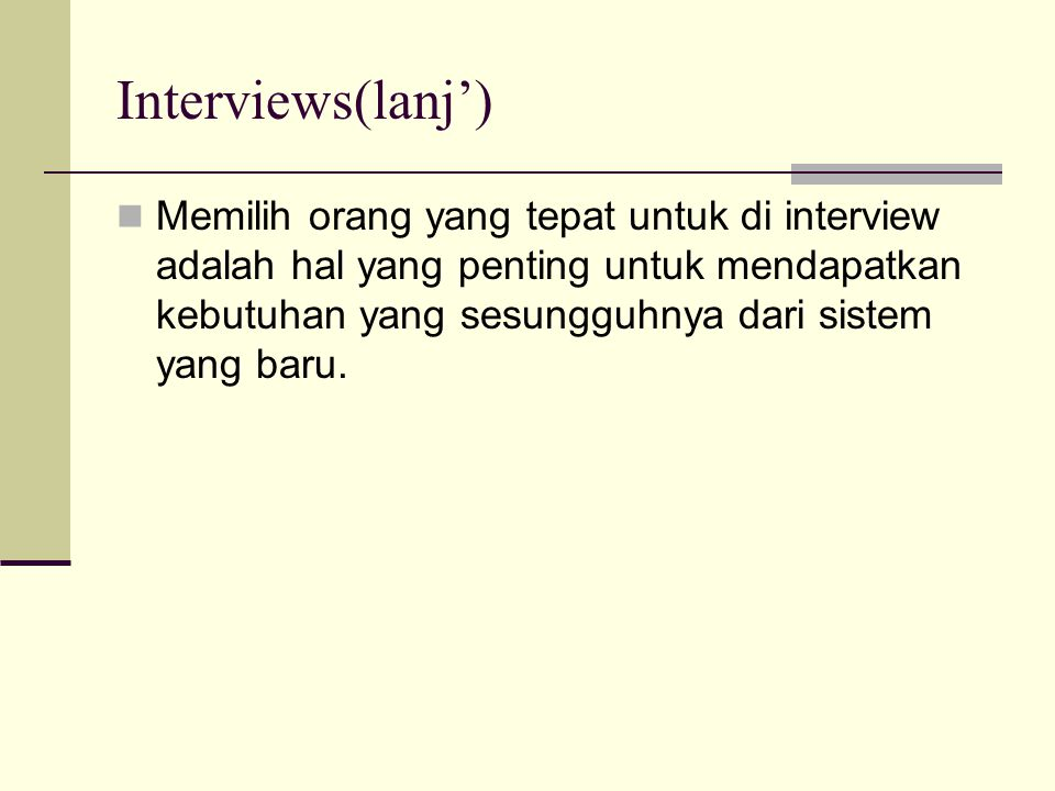 Interviews(lanj')
