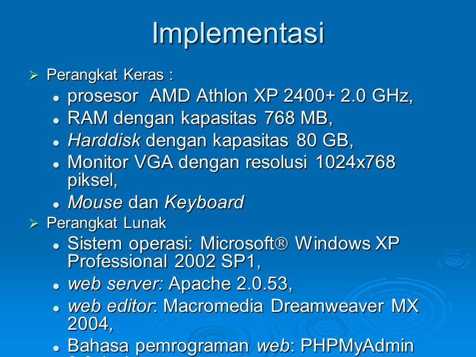 Implementasi prosesor AMD Athlon XP 2400+ 2.0 GHz,