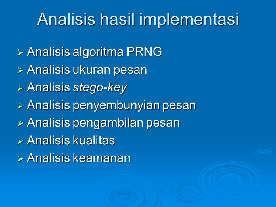 Analisis hasil implementasi