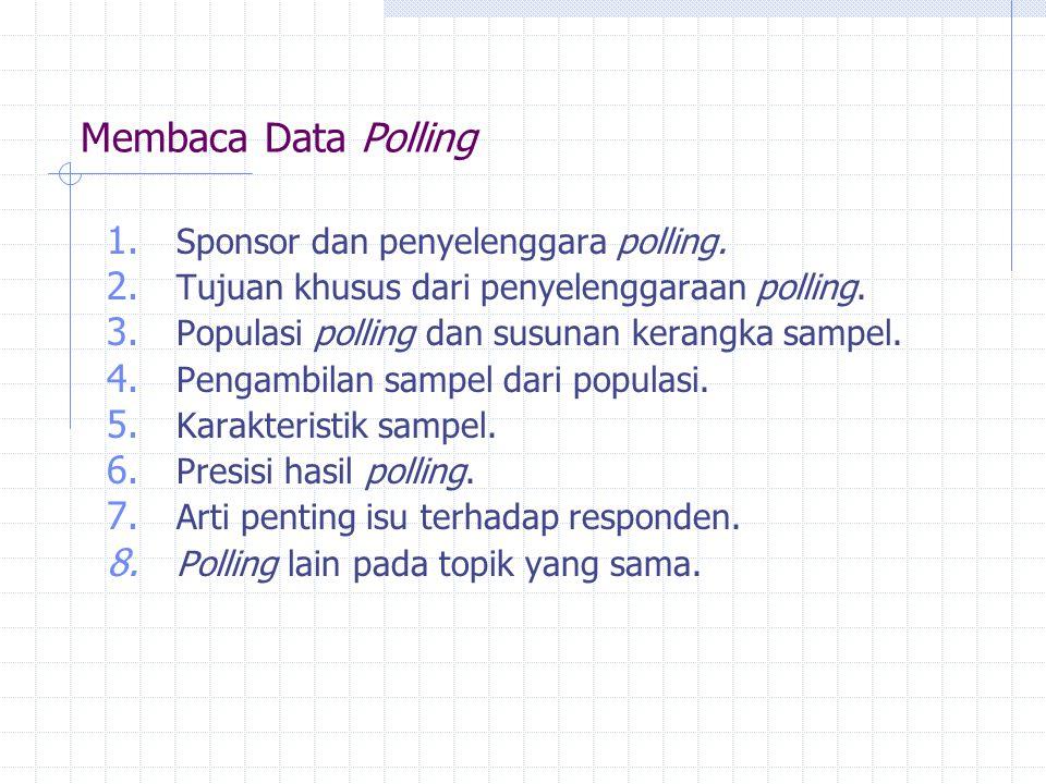 Membaca Data Polling Sponsor dan penyelenggara polling.