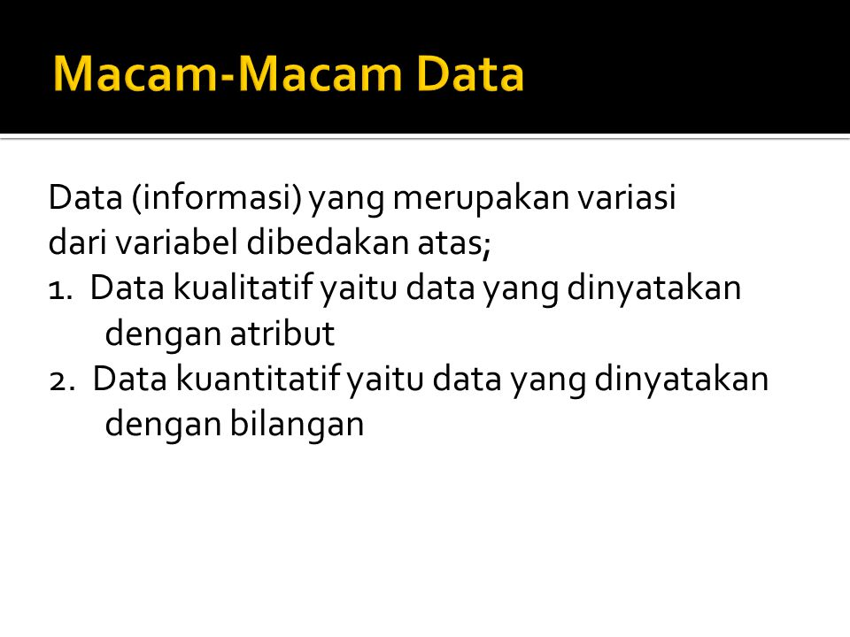 Macam-Macam Data