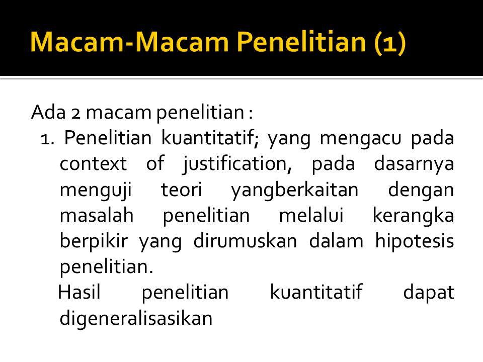 Macam-Macam Penelitian (1)