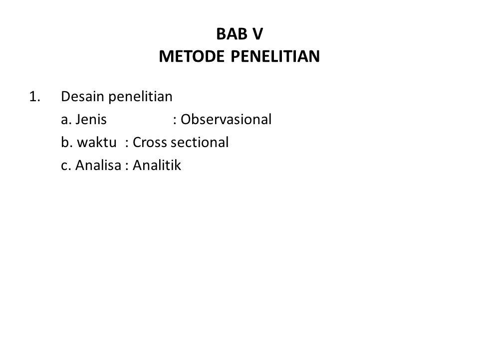 BAB V METODE PENELITIAN