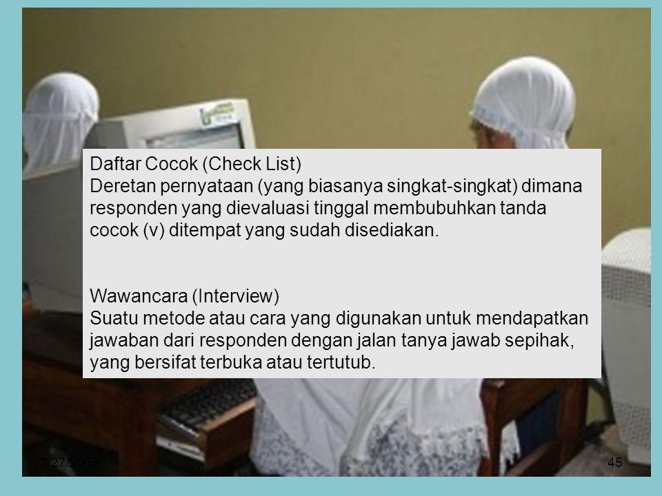 Daftar Cocok (Check List)